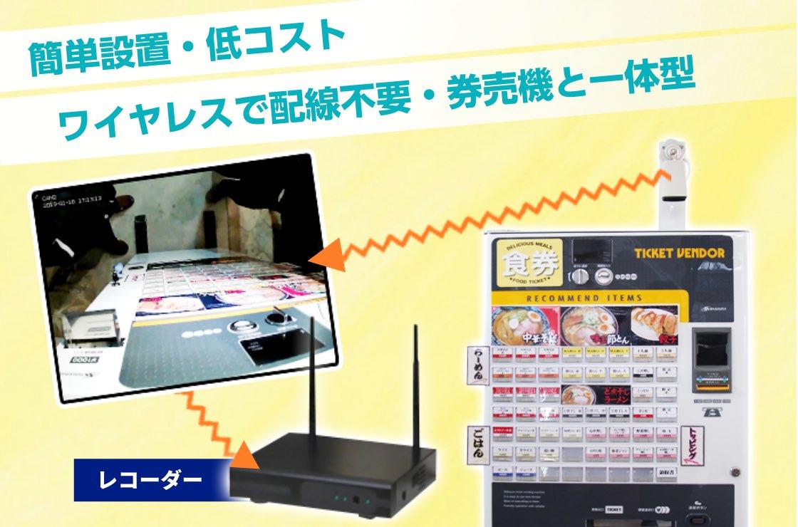 監視カメラシステムは簡単設置・低コスト ワイヤレスで配線不要・券売機と一体型