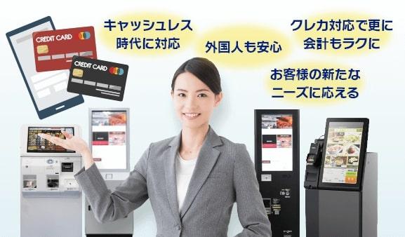 クレジットカード対応券売機とは
