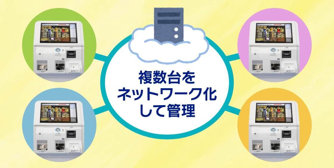 券売機を複数台ネットワーク化できる