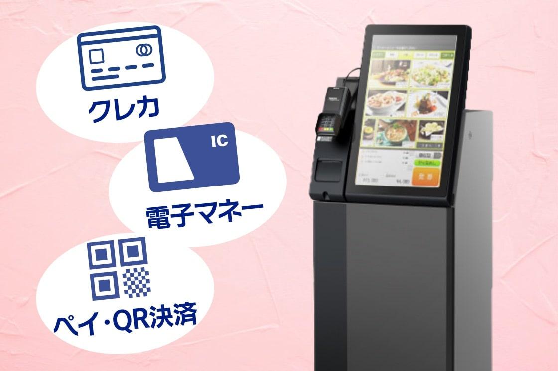 キャッシュレス(QR決済)対応券売機 クレカ・電子マネー・ペイ・QR決済