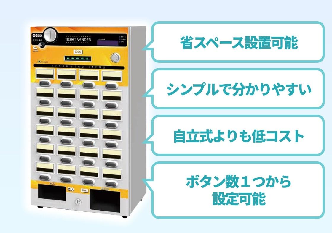 省スペース設置可能・シンプル・わかりやすい・低コスト・ボタン数1つから設定可能